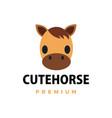 cute horse flat logo icon vector image