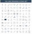 drawing icons vector image vector image