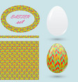 easter set with eggs seamless pattern frame and vector image vector image