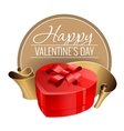 emblem congratulations to valentines day vector image vector image