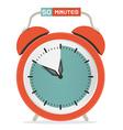Fifty Minutes Stop Watch - Alarm Clock vector image vector image