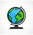 globe design icon vector image