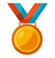 gold medal award for sports vector image
