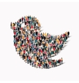group people form bird vector image vector image