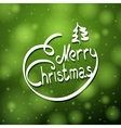 Hand written merry christmas lettering with little vector image vector image
