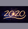 happy new 2020 year winter holiday design template vector image vector image
