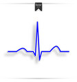 heart pulse graphic vector image vector image