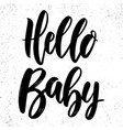 hello balettering phrase for poster card vector image