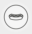 hot dog icon editable thin line vector image