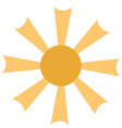 isolated sun icon vector image