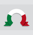 italian flag rounded abstract background vector image