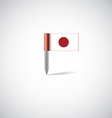 Japan flag pin vector image