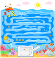 Kids sea maze game vector image vector image