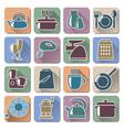 Kitchenware Retro Flat Icons vector image