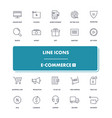 line icons set e-commerce 1 vector image