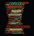 mesothelioma treatments for mesothelioma cancer vector image vector image