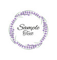 natural frame with lavender vector image