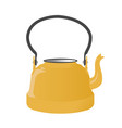 old metallic kettle with handle vector image vector image