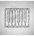 piano keys icon vector image vector image