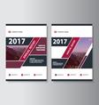 Purple geometric annual report Leaflet Brochure vector image vector image