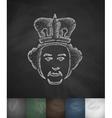 queen icon Hand drawn vector image vector image