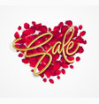 realistic golden inscription sale on the vector image vector image