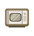 retro old tv on a white vector image