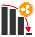 ripple epic fail chart flat icon vector image vector image