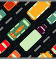 seamless pattern with car top view vector image vector image