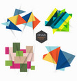 set design with geometric elements vector image