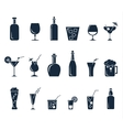 Set of black flat icons about beverage vector image vector image