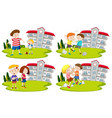 set of bullys and kids vector image vector image