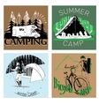 set of retro vintage camp labels and logo graphics vector image vector image
