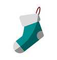 single sock icon image vector image