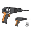 Smiling DIY hand drill with a happy face vector image vector image
