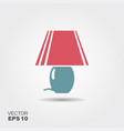 table lamp icon in flat style isolated on grey vector image