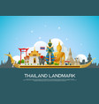 thailand landmark and building travel vector image vector image