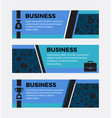 three business banners set design elements vector image