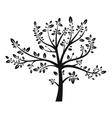 Tree black silhouette vector image