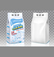 washing powder bags realistic mockup set vector image