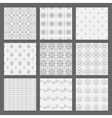 White and gray modern geometrical pattern set vector image vector image
