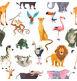 wild animals seamless pattern african safari vector image vector image
