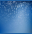 winter background with snowflakes holiday merry vector image vector image