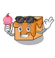 with ice cream caramel candies character cartoon vector image vector image