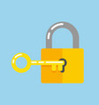 lock with key vector image