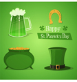 St Patricks Icons vector image