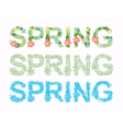 Word spring in floral font vector image