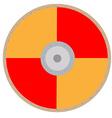 Orange viking shield vector image