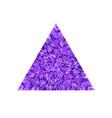 abstract colorful geometrical mosaic polygon logo vector image vector image