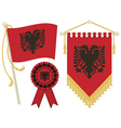 albania flags vector image vector image